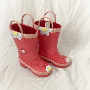 Land's End flower rain boots